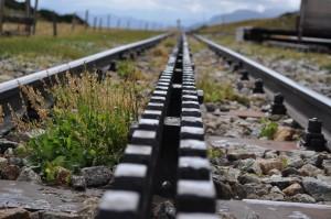 rails du train à crémaillère