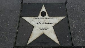 étoile de Brahms devant le Musikverein